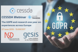 CESSDA Webinar: The GDPR and research one year on: experiences across Europe