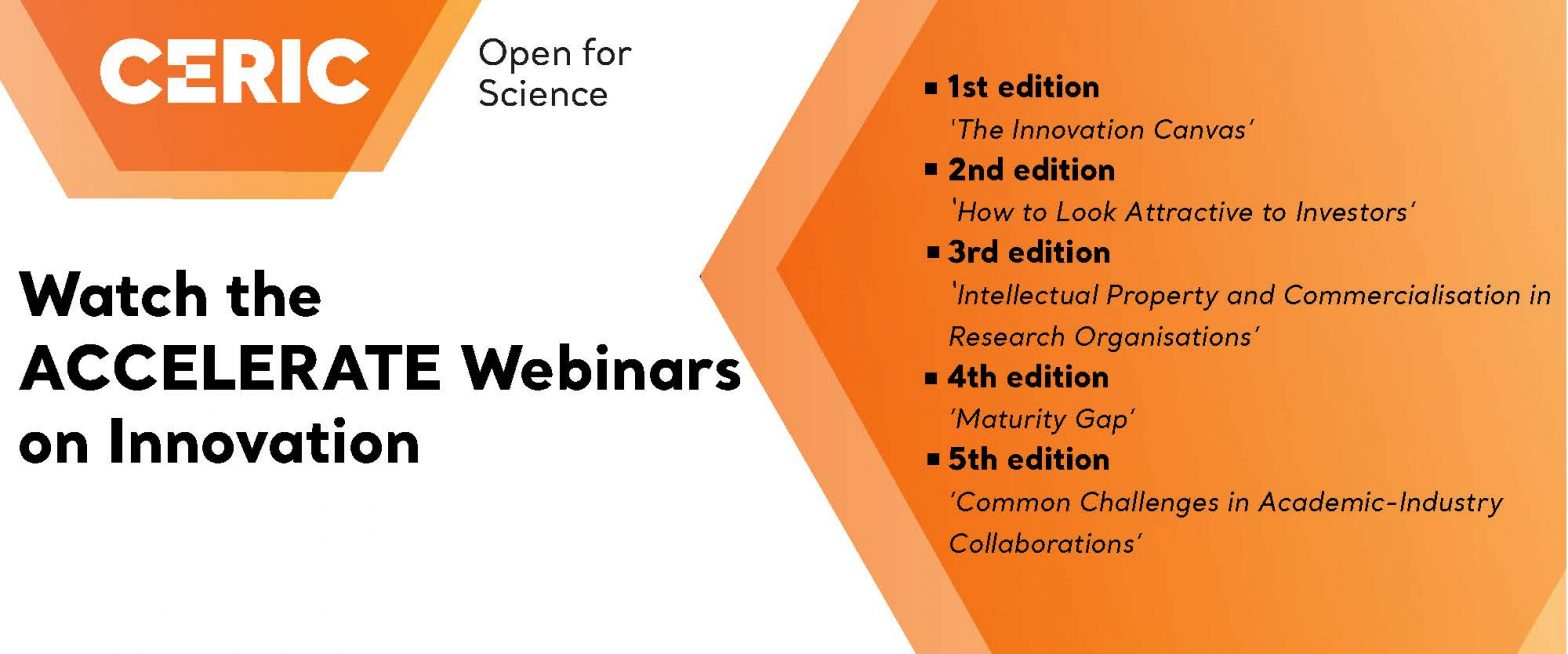 ACCELERATE Webinars on Innovation