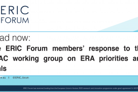 ERIC Forum's response to the ERAC working group on ERA priorities and goals