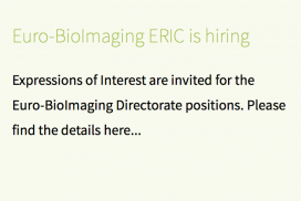 Euro-BioImaging ERIC is now recruiting its Directorate