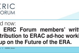 ERIC Forum's response to the public consultation on the future of the ERA (communication)