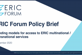 The ERIC Forum is pleased to announce the release of its first policy brief