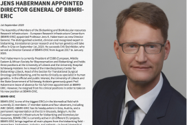 Press release: Jens Habermann appointed Director General of BBMRI-ERIC