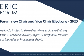 ERIC Forum's new Chair and Vice Chair elections: A call for ERICs