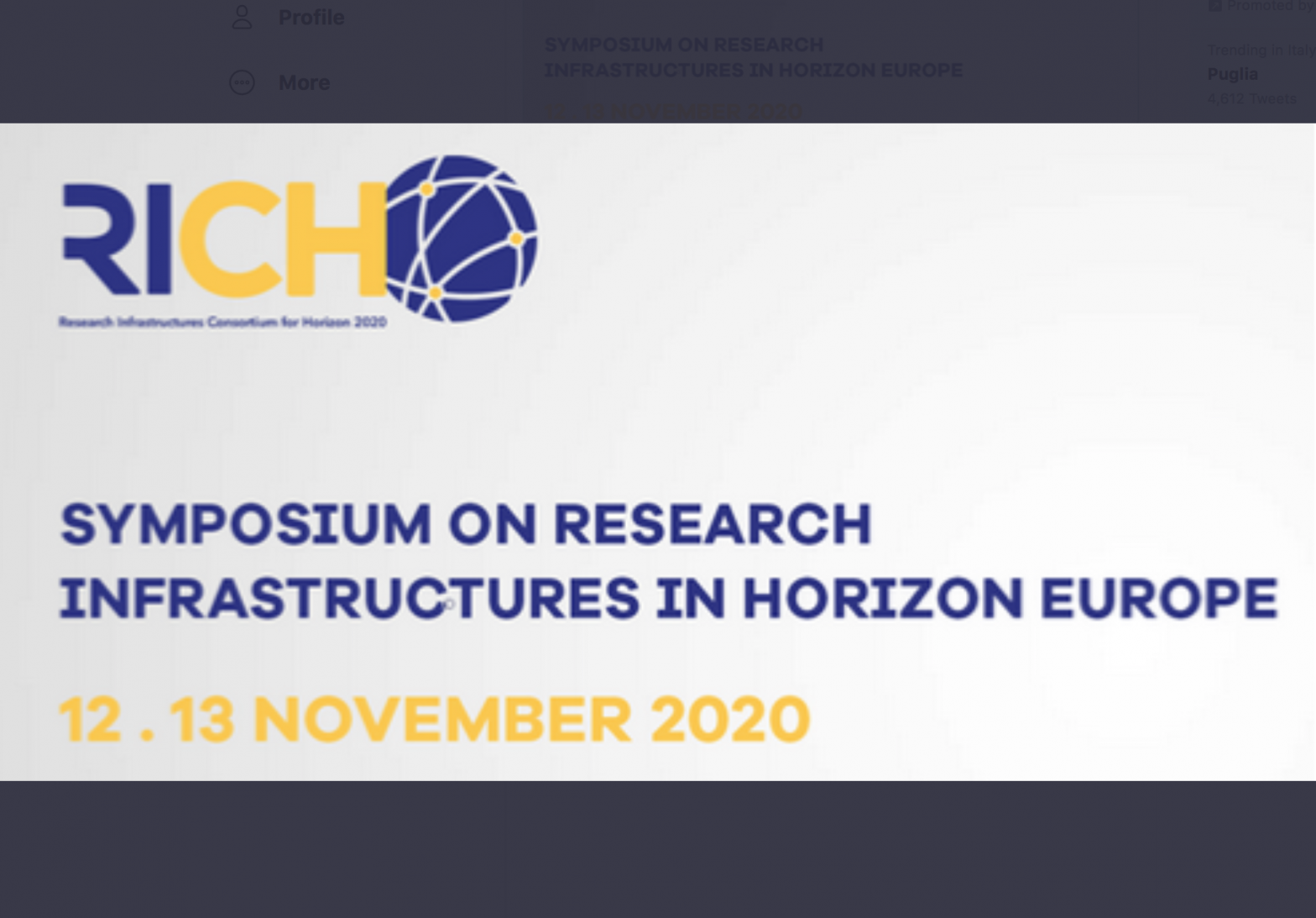 IV RICH Symposium: 'Research Infrastructures as engines for maximising impact of Horizon Europe'