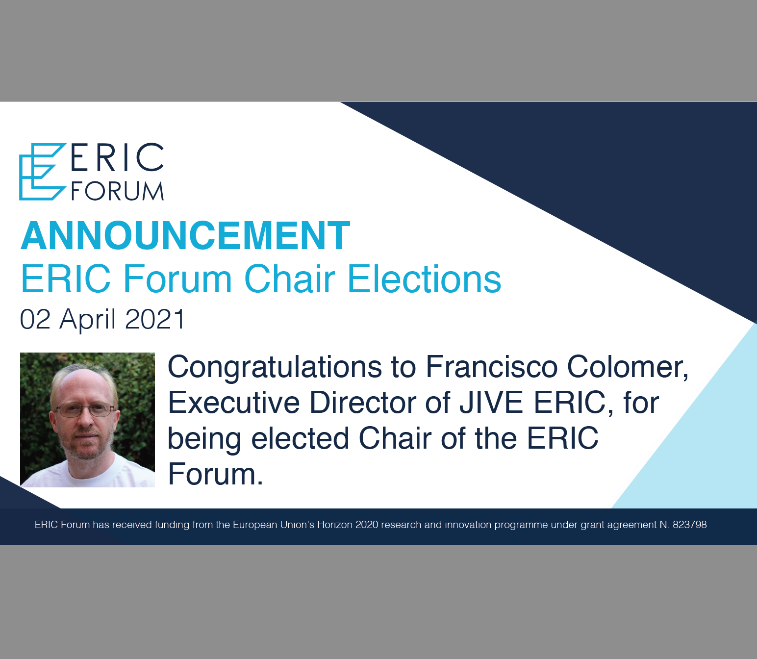 ERIC Forum elects Francisco Colomer, JIVE ERIC Director, as new Chair