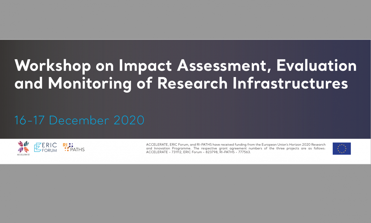 Workshop on Impact Assessment, Evaluation and Monitoring of Research Infrastructures: The presentations are now available