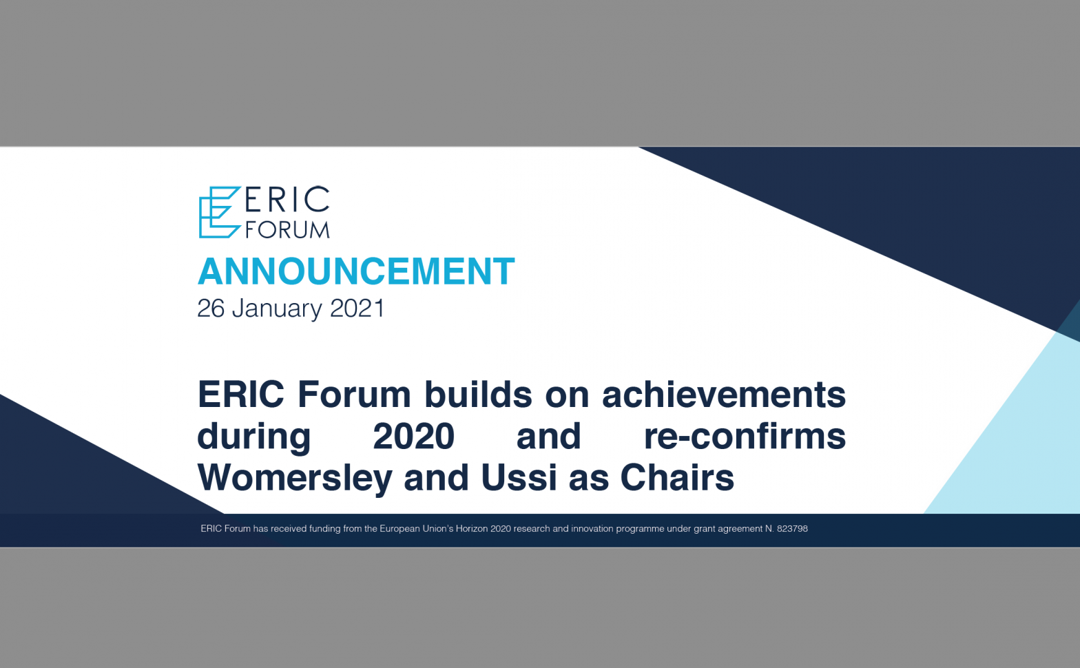 ERIC Forum builds on achievements during 2020 and