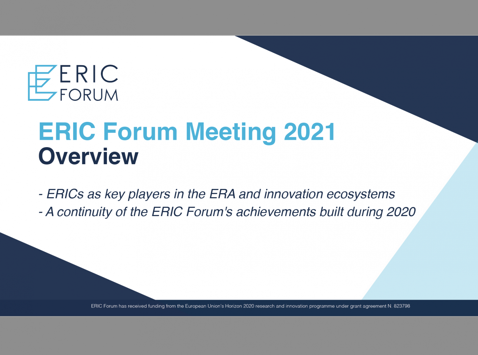 ERIC Forum Meeting 2021 – Overview