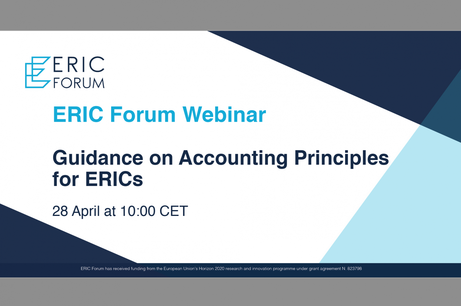 ERIC Forum Webinar: Guidance on Accounting Principles for ERICs