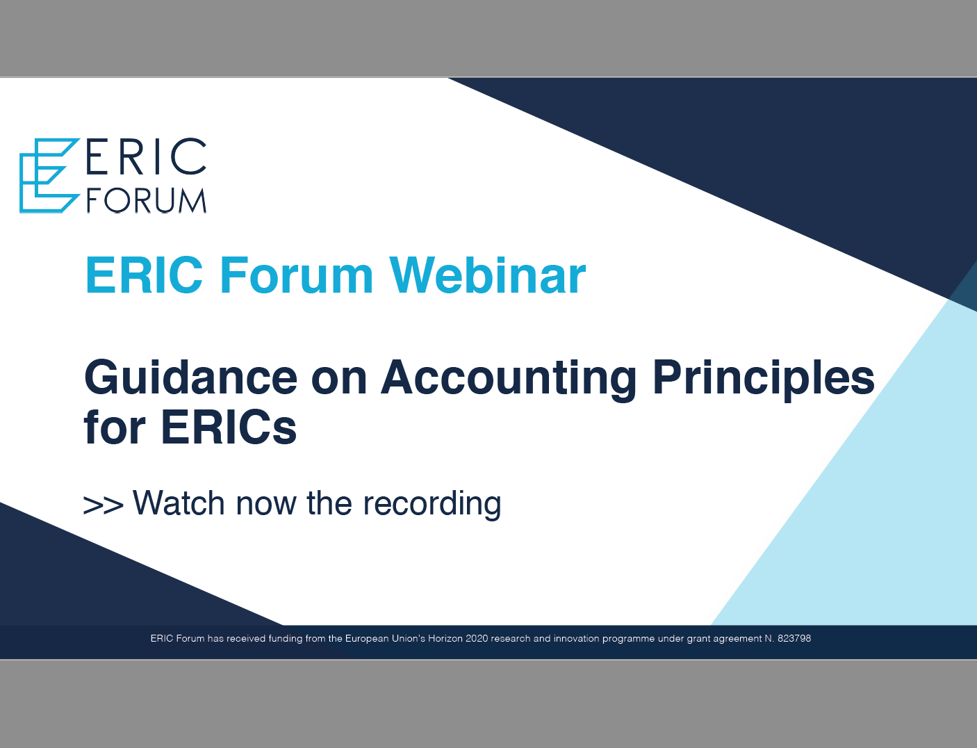 Watch now ►ERIC Forum Webinar: Guidance on Accounting Principles for ERICs